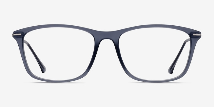 Thursday Gray Plastic Eyeglass Frames from EyeBuyDirect, Front View