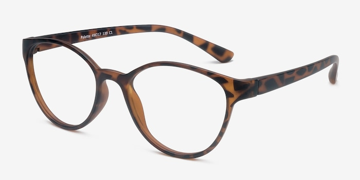 Palette Matte Leopard Plastique Montures de Lunettes d'EyeBuyDirect, Vue d'Angle