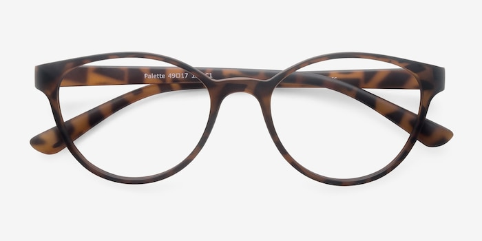 Palette Matte Leopard Plastic Eyeglass Frames from EyeBuyDirect, Closed View