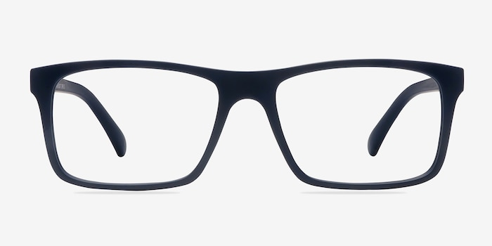 Persian Matte Navy Plastic Eyeglass Frames from EyeBuyDirect, Front View