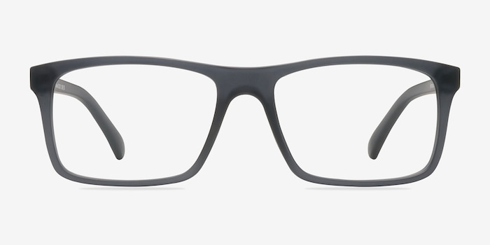 Persian Matte Gray Plastic Eyeglass Frames from EyeBuyDirect, Front View