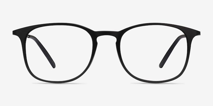 Little Bit Matte Black Plastic Eyeglass Frames from EyeBuyDirect, Front View