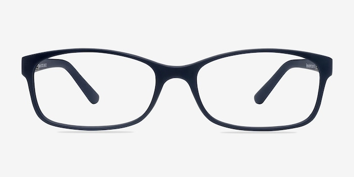 Beads Matte Navy Plastic Eyeglass Frames from EyeBuyDirect, Front View