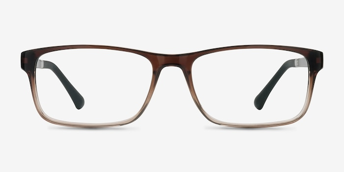 Firefly Brown  Plastic Eyeglass Frames from EyeBuyDirect, Front View