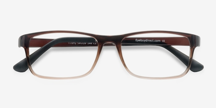 Firefly Brown  Plastic Eyeglass Frames from EyeBuyDirect, Closed View
