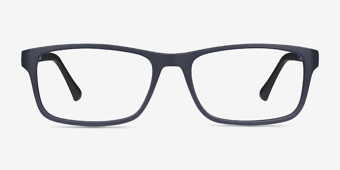 Firefly Matte Navy Plastic Eyeglass Frames from EyeBuyDirect, Front View