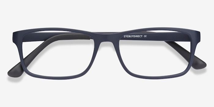 Firefly Matte Navy Plastic Eyeglass Frames from EyeBuyDirect, Closed View