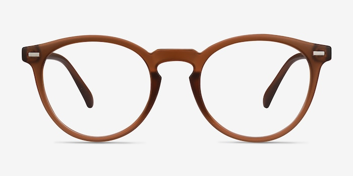 Peninsula Matte Redwood Plastic Eyeglass Frames from EyeBuyDirect, Front View