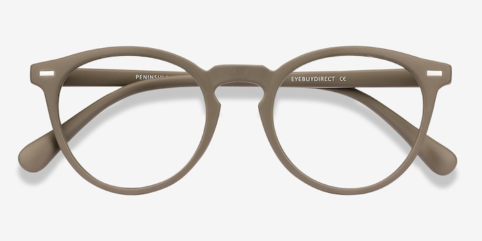 Peninsula Matte Green Plastic Eyeglass Frames from EyeBuyDirect, Closed View