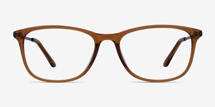 Oliver Brown Plastic Eyeglass Frames from EyeBuyDirect, Front View