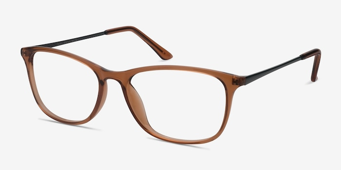 Oliver Brown Plastic Eyeglass Frames from EyeBuyDirect, Angle View