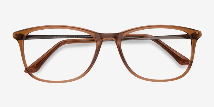 Oliver Brown Plastic Eyeglass Frames from EyeBuyDirect, Closed View