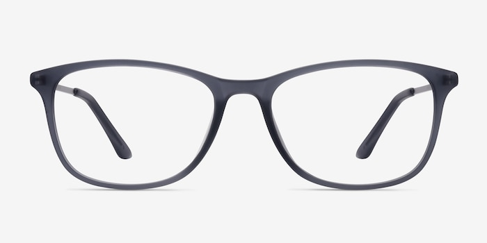 Oliver Matte Gray Plastic Eyeglass Frames from EyeBuyDirect, Front View