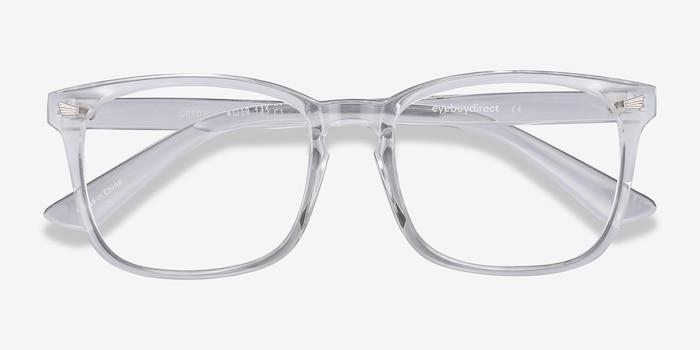 Uptown Transparent Plastique Montures de Lunettes d'EyeBuyDirect, Vue Rapprochée