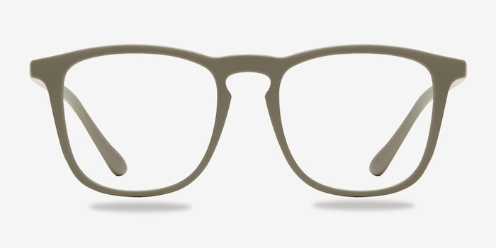 Central  Matte Green  Plastic Eyeglass Frames from EyeBuyDirect, Front View
