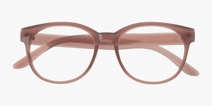 Grace Brown Plastic Eyeglass Frames from EyeBuyDirect, Closed View