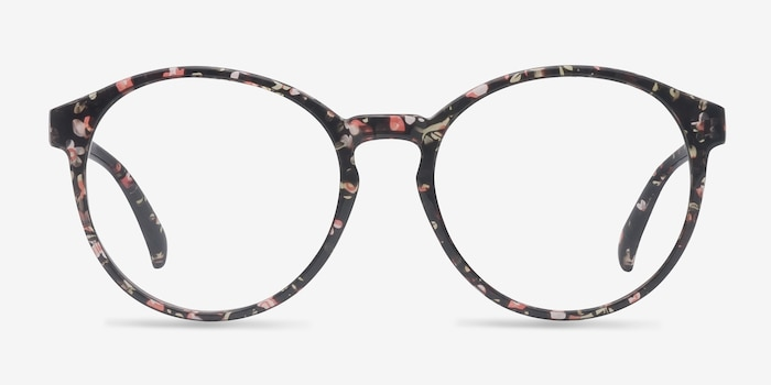 Delaware Floral Plastic Eyeglass Frames from EyeBuyDirect, Front View