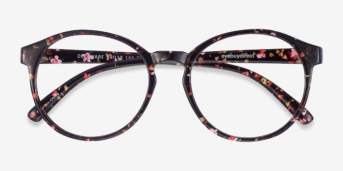 Delaware Floral Plastic Eyeglass Frames from EyeBuyDirect, Closed View