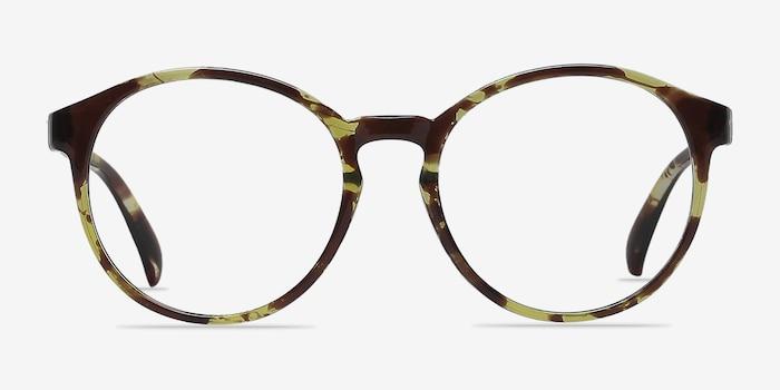 Delaware Tortoise Plastic Eyeglass Frames from EyeBuyDirect, Front View