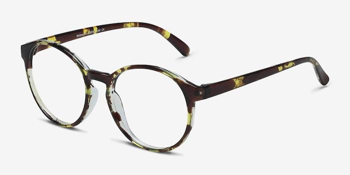 Delaware Tortoise Plastic Eyeglass Frames from EyeBuyDirect, Angle View