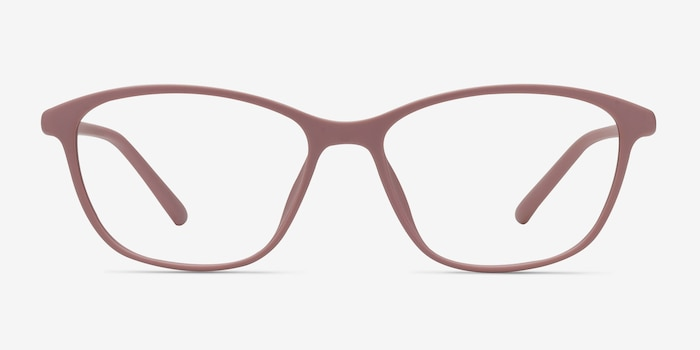 District Matte Pink Plastic Eyeglass Frames from EyeBuyDirect, Front View