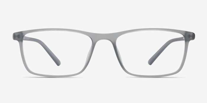 Sullivan Matte Gray Plastic Eyeglass Frames from EyeBuyDirect, Front View