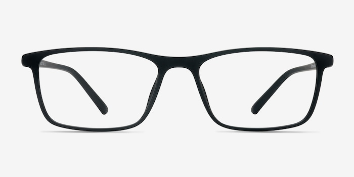 Sullivan Matte Black Plastic Eyeglass Frames from EyeBuyDirect, Front View