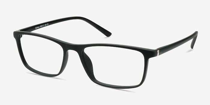 Sullivan Ash Plastic Eyeglass Frames from EyeBuyDirect, Angle View