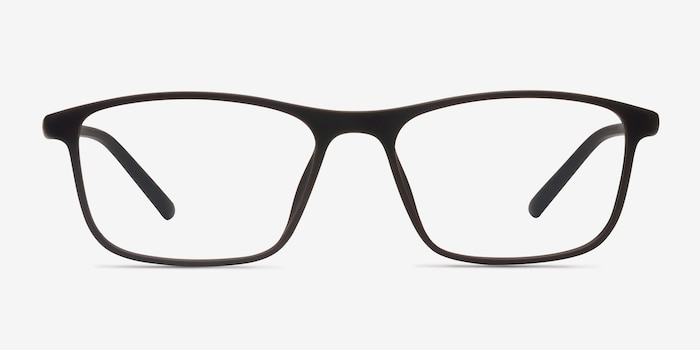 Wyoming Brown Plastic Eyeglass Frames from EyeBuyDirect, Front View