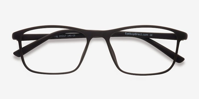 Wyoming Brown Plastic Eyeglass Frames from EyeBuyDirect, Closed View