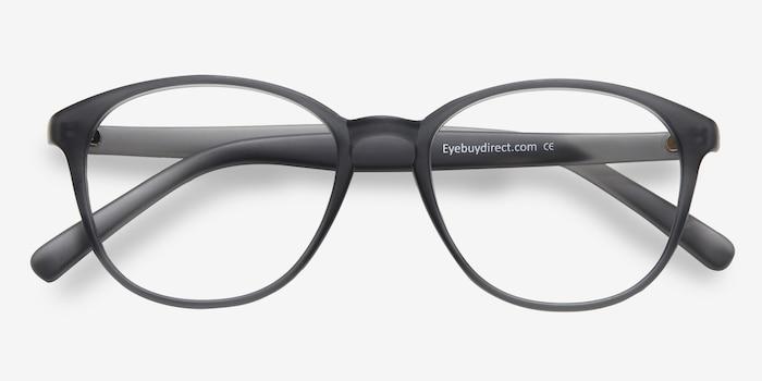 59a095cb442 Watermelon Matte Gray Plastic Eyeglass Frames from EyeBuyDirect