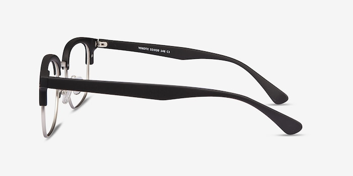 Yokote Matte Black Metal Eyeglass Frames from EyeBuyDirect, Side View
