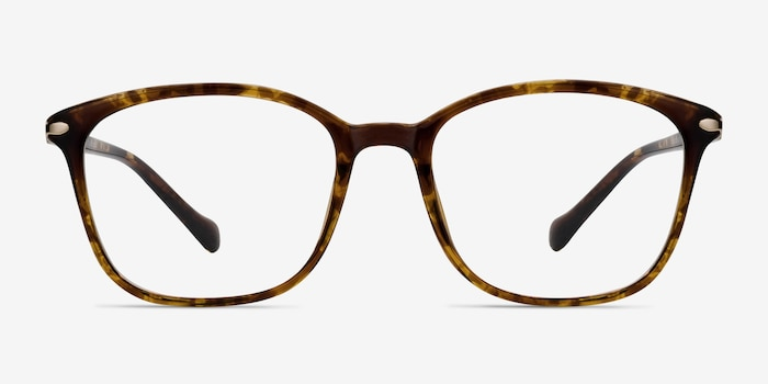 Nola Brown Plastic Eyeglass Frames from EyeBuyDirect, Front View