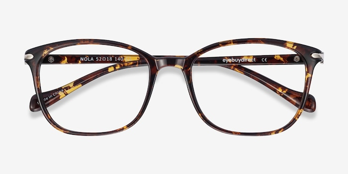 Nola Brown Plastic Eyeglass Frames from EyeBuyDirect, Closed View