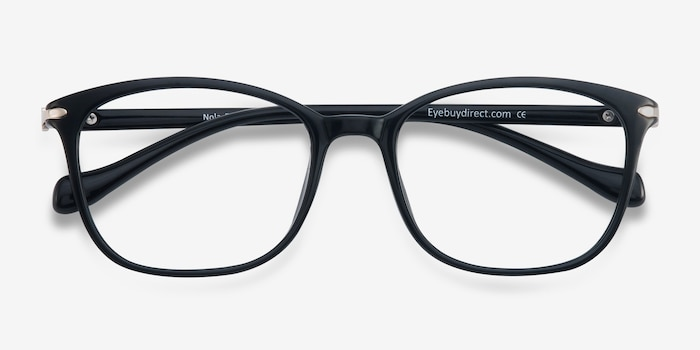 Nola Black Plastic Eyeglass Frames from EyeBuyDirect, Closed View