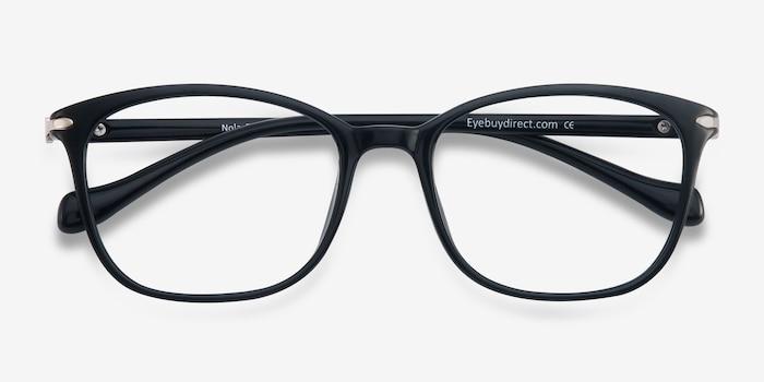 Nola Noir Plastique Montures de Lunettes d'EyeBuyDirect, Vue Rapprochée