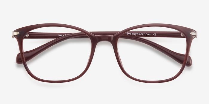 Nola Dark Red Plastic Eyeglass Frames from EyeBuyDirect, Closed View