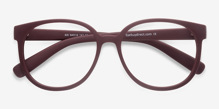 Kilt Matte Coral Plastic Eyeglass Frames from EyeBuyDirect, Closed View