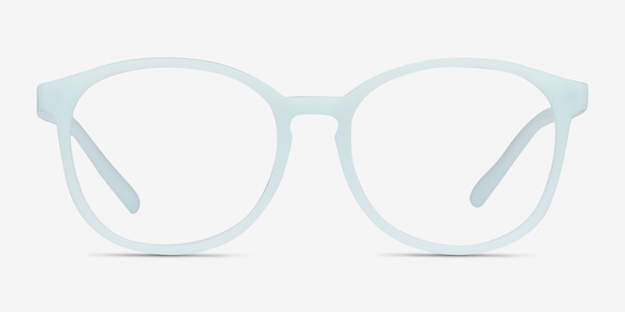 Dutchess Light Blue Plastique Montures de Lunettes d'EyeBuyDirect, Vue de Face