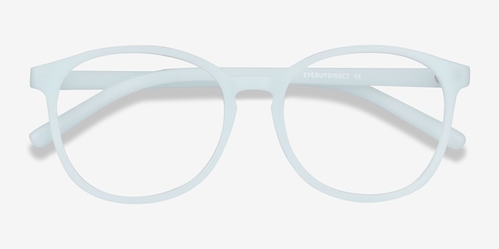 Dutchess Light Blue Plastic Eyeglass Frames from EyeBuyDirect, Closed View