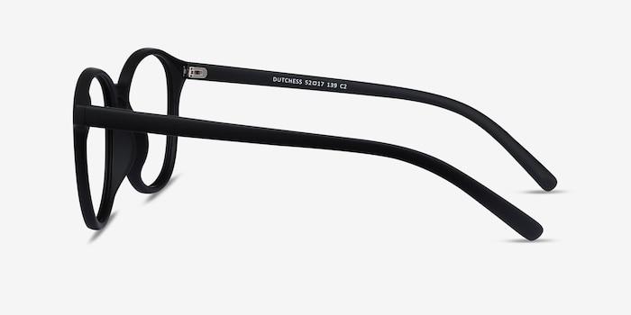 Dutchess Matte Black Plastique Montures de Lunettes d'EyeBuyDirect, Vue de Côté
