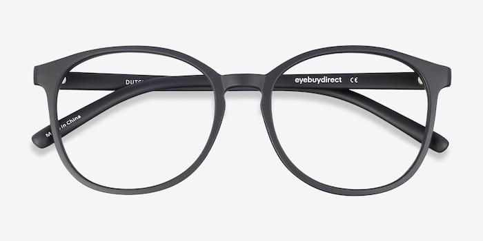 Dutchess Matte Black Plastic Eyeglass Frames from EyeBuyDirect, Closed View