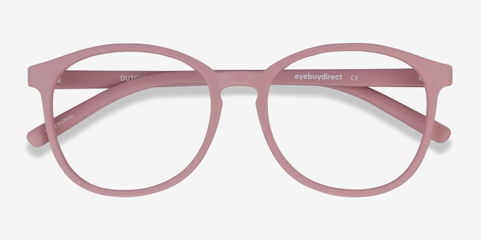 Dutchess Matte Pink Plastic Eyeglass Frames from EyeBuyDirect, Closed View