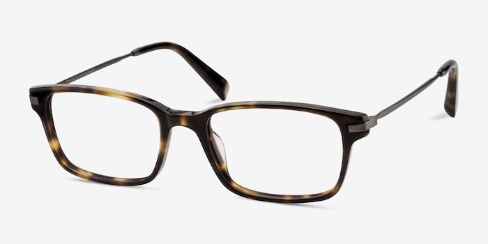 Dreamer Tortoise Acetate Eyeglass Frames from EyeBuyDirect, Angle View