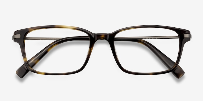 Dreamer Tortoise Acetate Eyeglass Frames from EyeBuyDirect, Closed View