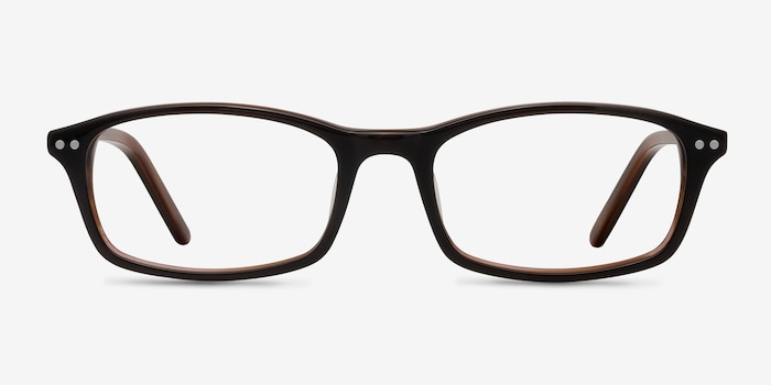 Fallon  Brown  Acetate Eyeglass Frames from EyeBuyDirect, Front View