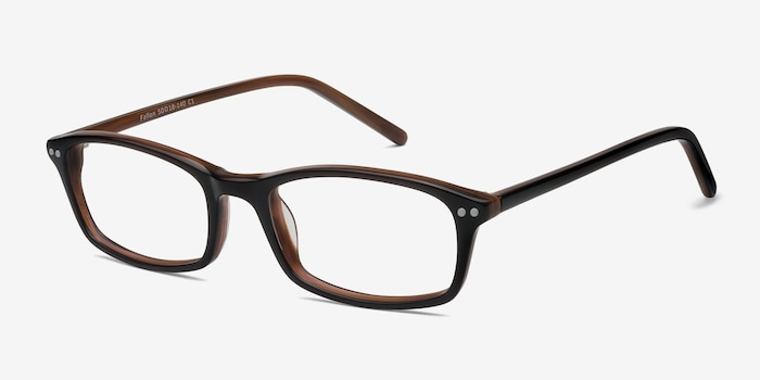 Fallon  Brown  Acetate Eyeglass Frames from EyeBuyDirect, Angle View