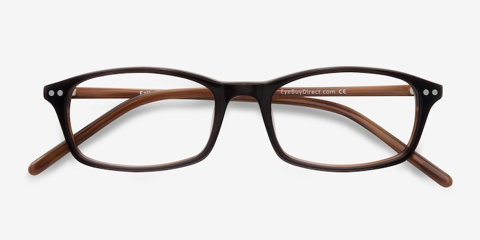 Fallon  Brown  Acetate Eyeglass Frames from EyeBuyDirect, Closed View