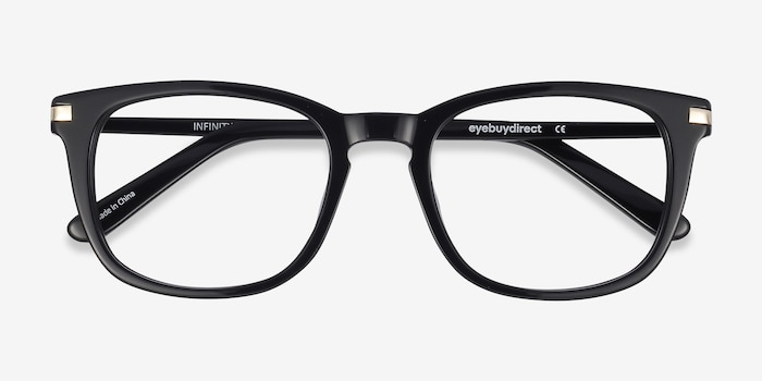 a3b67962ba Infinity Black Acetate Eyeglass Frames from EyeBuyDirect