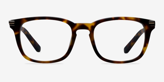 Infinity Tortoise Acetate Eyeglass Frames from EyeBuyDirect, Front View